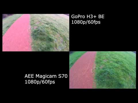 comparatif Gopro H3+ BE / AEE S70