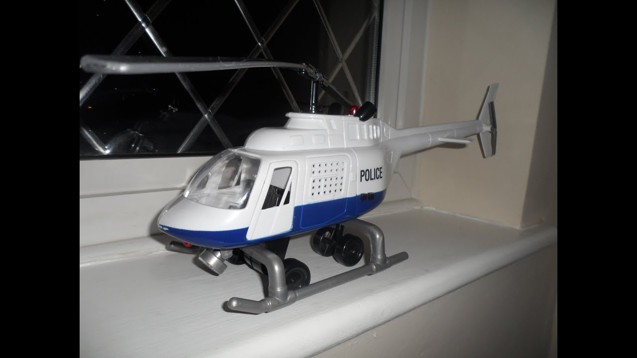 Simba Dickie Toy Best Police Helicopter Toy Lights