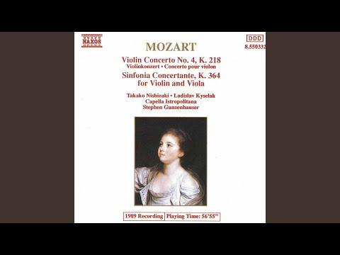 Violin Concerto No 4 in D Major, K 218: I Allegro
