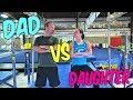 Dad VS Daughter Gymnastics Challenge  Rachel Marie