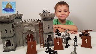 Игровой набор Рыцарский замок | История средневекового замка | Мультики для Мальчиков Солдатики