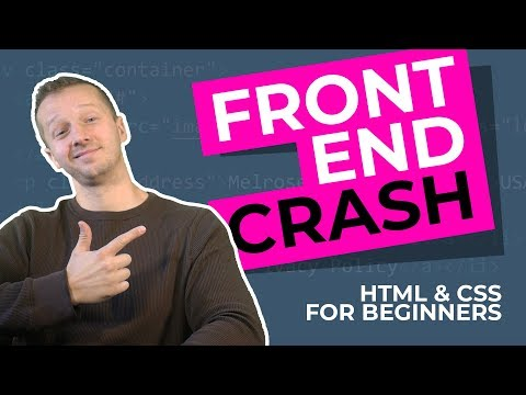 The 2019 Frontend Developer Crash Course - HTML & CSS Tutori