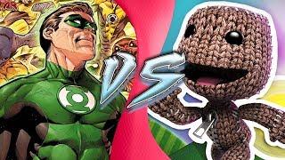GREEN LANTERN vs SACKBOY! (Justice League vs Little Big Planet) | CARTOON FIGHT CLUB!