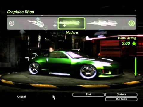 How to make rachels car on need for speed underground 2
