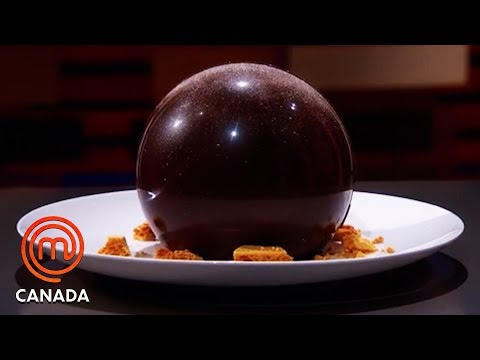 The Chocolate Sphere Dessert Pressure Test | MasterChef Canada | MasterChef World