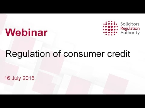 Regulation of consumer credit