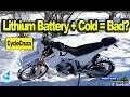 Myth Buster: Will Motorcycle Start in Subfreezing with Lithium Battery?
