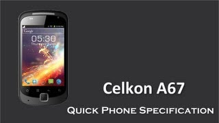 Celkon A67 come in the Price Rs. with 1 GHz Dual Core Quick Phone Specification