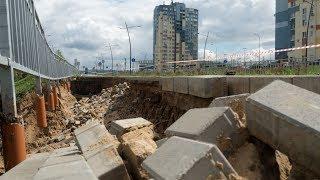 видео Ливень размыл построенные к ЧМ-2018 дороги в Нижнем Новгороде