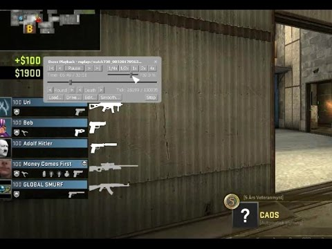 CS:GO playback / replay controls for fast forward, slowmotion etc