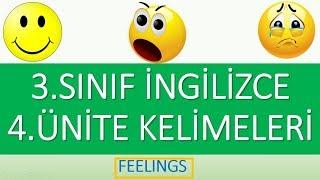 3. Sınıf İngilizce 4. Ünite Feelings Kelimeleri