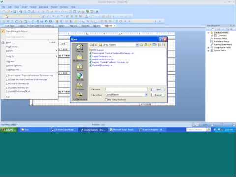 CA - Reporting Crystal Reports, PDF, HTML