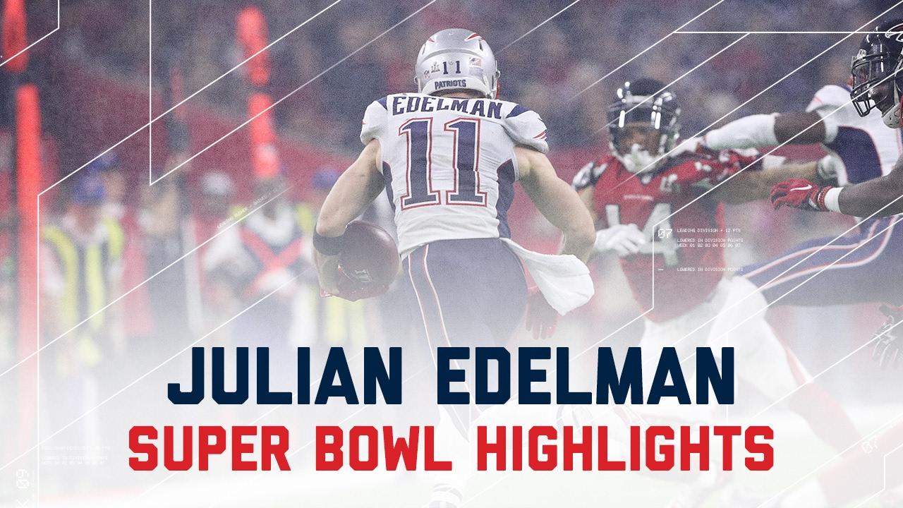 Julian Edelman S Clutch Performance Patriots Vs Falcons Super Bowl Player Highlights Youtube