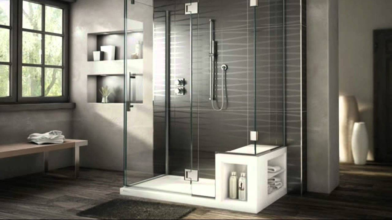 Fabulously modern shower stalls with seat