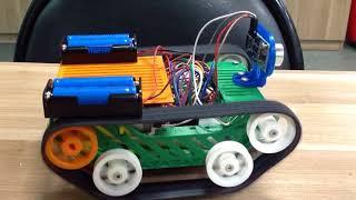 Уроки робототехники. Курс 3. Первый тест танка.