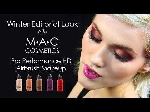MAC Pro Performance HD Editorial Demo Tutorial /Trucco Aerografo con MAC Cosmetics