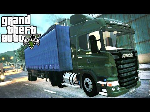 Grand Theft Auto V - GTA 5 - MOD #8 - Conhecendo Scania R440 - Em busca do baú perdido!