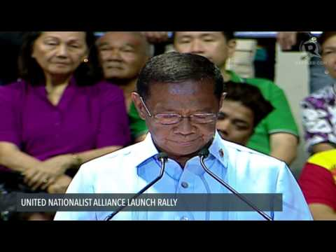 Vice President Jejomar Binay's speech at the UNA party launch