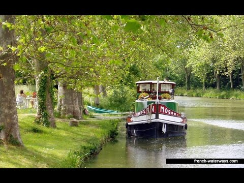 Cruising through the beautiful canals and rivers of France