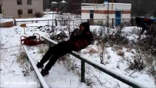 Вова PULLER Платонов: зимний воркаут, немного армрестлинга + жилет 15 кг