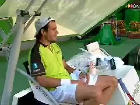 Tommy Haas talking to himself