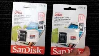 Fake Sandisk vs real Sandisk Micro SD 64 GG card comparison