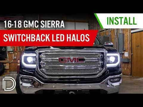 How to Install 2016-2018 GMC Sierra 1500 LED Halo Kit | Diode Dynamics