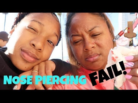 ME AND BROOKLYN GET OUR NOSES PIERCED AND LOST MY DOG!! VLOG