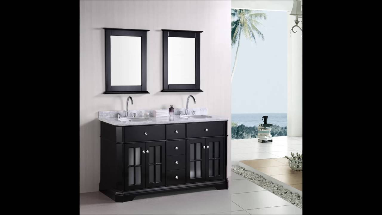 Beliani modern malaga bathroom vanity with sink cabinets and mirrors - White Floating Washbasin Placed In White Marble Space