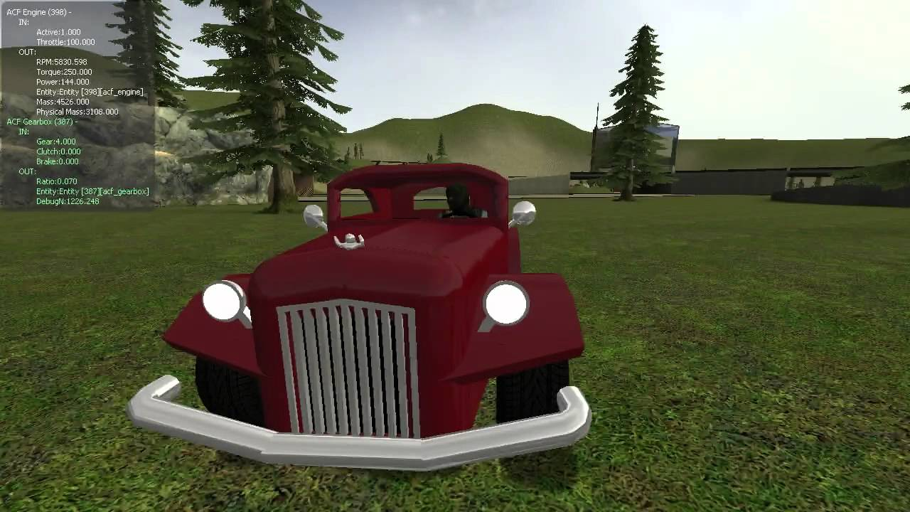 Gmod - My first ACF engine powered car - YouTube