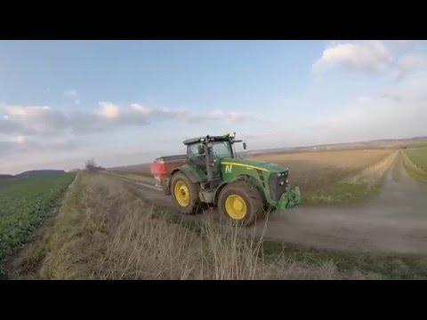 [GoPro] Düngerstreuen 2016 mit John Deere, JCB und Rauch  HD