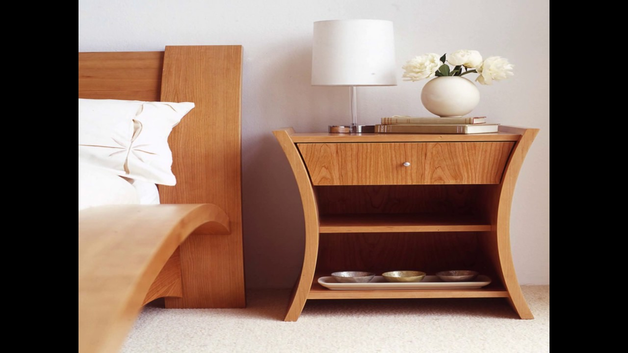 Bedroom side tables i bedside tables designs youtube Simple bedside table designs