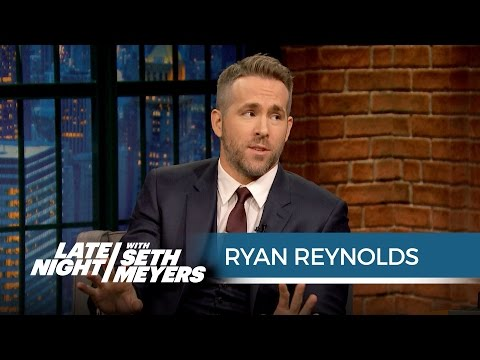 "Ryan Reynolds Played ""Let's Get It On"" While Blake Lively Was in Labor - Late Night with Seth Meyers"