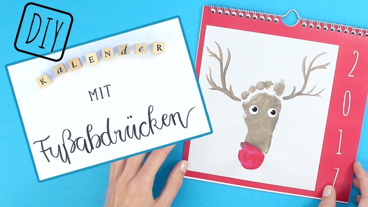 Fingerfarbe Weihnachten.Ein Kalender Mit Fußabdrücken Die Besten Ideen Und Tipps Bel