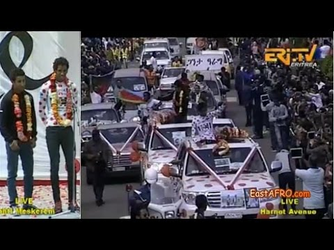 Eritrean Daniel Teklehaimanot, Merhawi Kudus Asmara Hero's Welcome