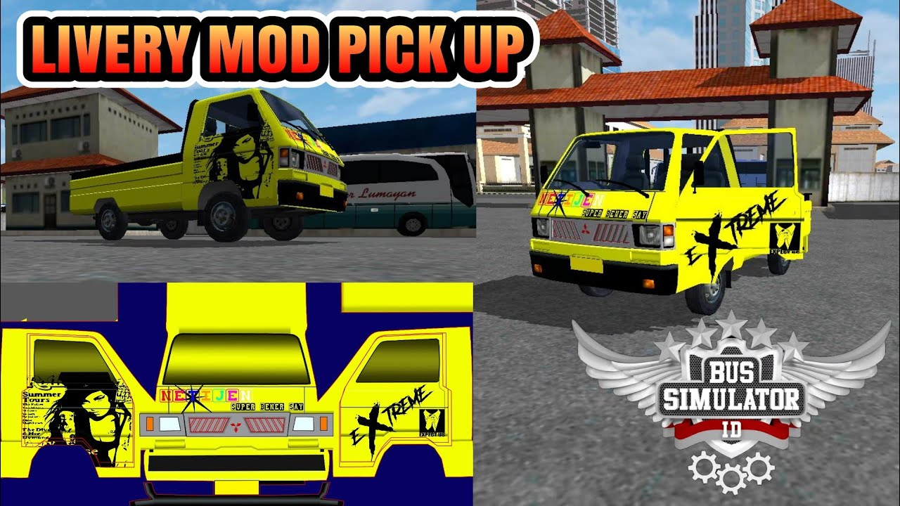 Livery Mod Bussid Pick Up ||| BUSSID V2 9 by CHO END