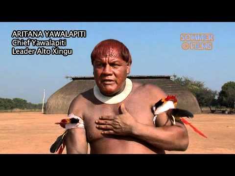 Aritana Yawalapiti Mensagem para parentes no Baixo Xingu / Belo Monte