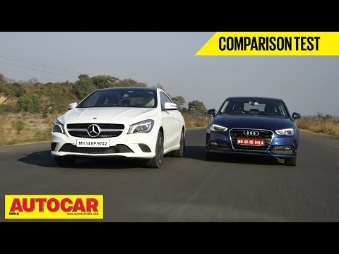 Mercedes Benz CLA-Class vs Audi A3 | Comparison Test | Autocar India