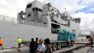 HMNZS Canterbury Arrives In  Fiji 03 03 16