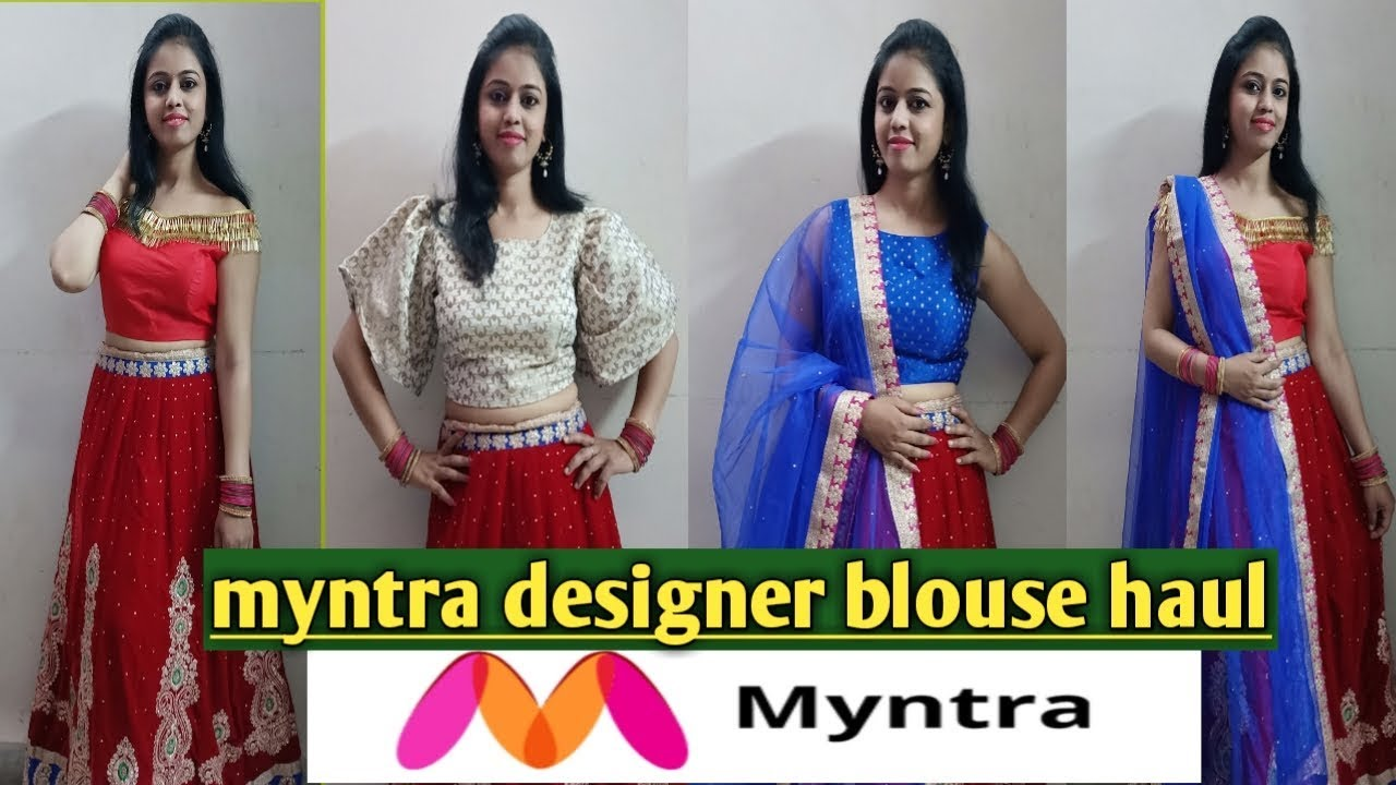 498163407bd344 Myntra Designer blouse haul 2019*/unboxing latest blouses from ...