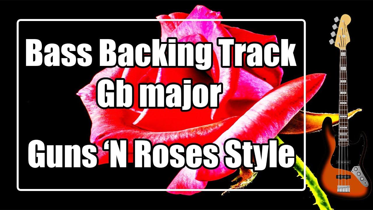 Bass Backing Track Gb major  - G flat - Knockin on Heavens Door Style - NO BASS Jam Backtrack