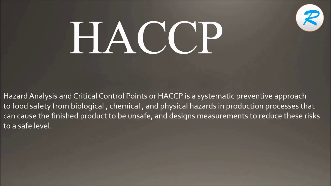 How to pronounce HACCP