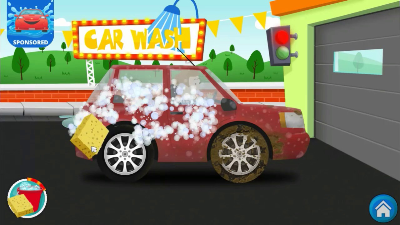 fun car wash for kids learn to clean cars little kids apps games
