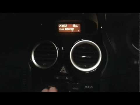 Vauxhall Opel Corsa D CD30 Hidden Menu