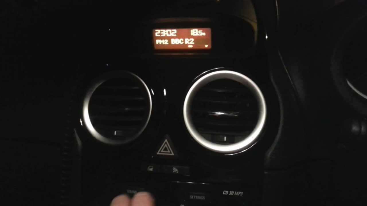Vauxhall opel corsa d cd30 hidden menu youtube vauxhall opel corsa d cd30 hidden menu sciox Images