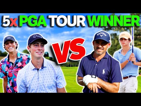 We Challenged 5 Time PGA Tour Winner & His Son To a Golf Match…