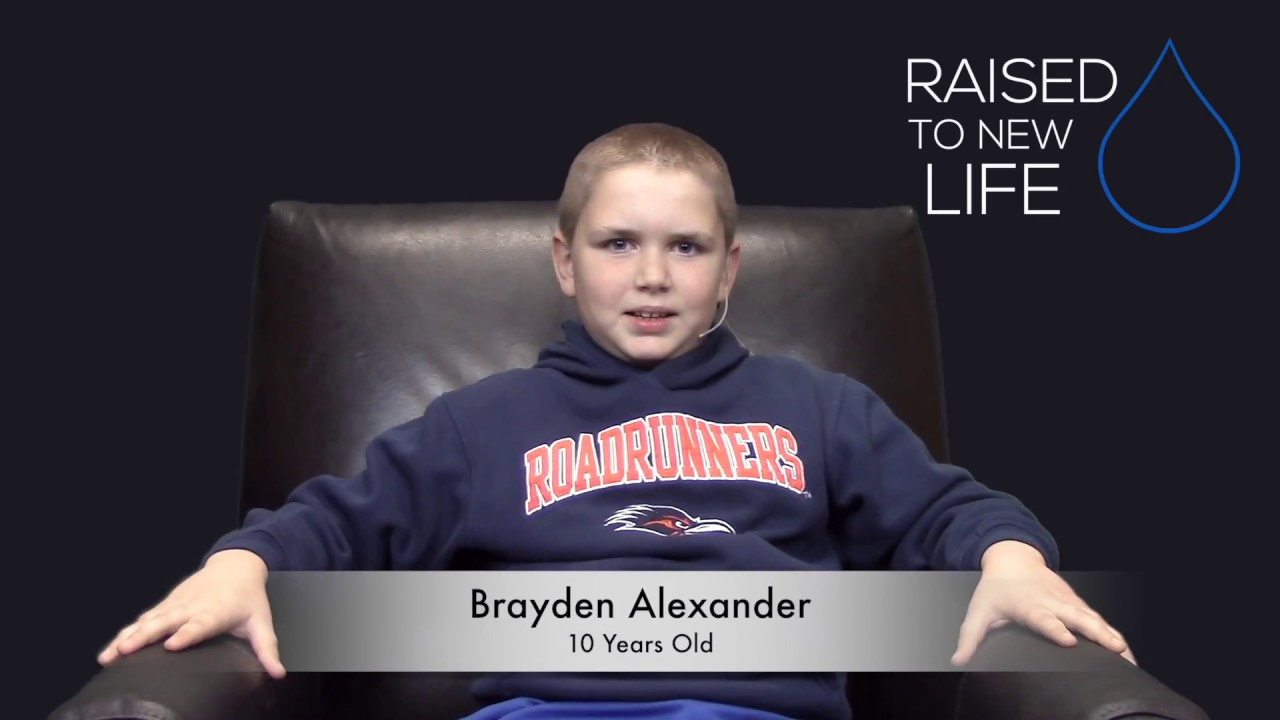 Raised To New Life Brayden Alexander With Baptism