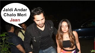 Varun Dhawan With Girlfriend Natasha Dalal At Dinesh Vijan Birthday Party