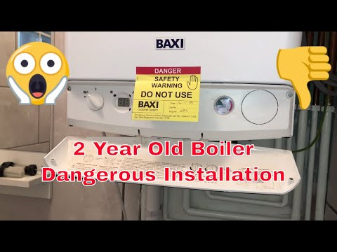 Dangerous Gas Boiler  A day in the life of a Gas Engineer / Plumber