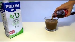 Coca-Cola + Milk = Reaction. Coke mixed with Milk Experiment (accelerated video bundle)